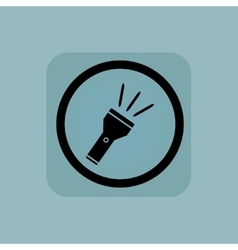 Pale blue flashlight sign vector