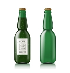 Transparent glass bottle vector