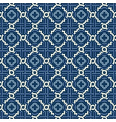 Tangled pattern with quatrefoils vector