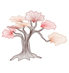 Abstract bonsai tree vector