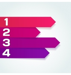 Next steps arrows for presentations vector