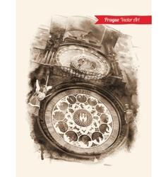 Astronomical clock prague vector