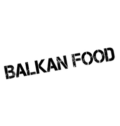 Balkan food rubber stamp vector