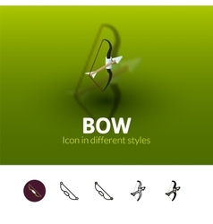 Bow icon in different style vector