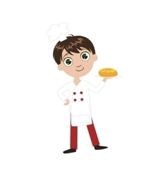 Boy future baker vector