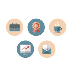 Business flat icon vector image
