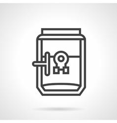 Coffee brewer black line design icon vector