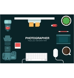 desk header vector image