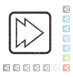 Direction right icon rubber watermark vector