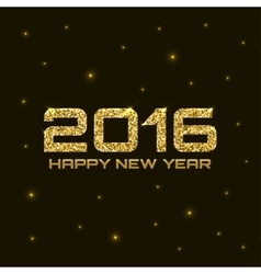 Gold Shiny Bright New Year 2016 Background vector image