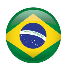 Isolated flag of brazil vector