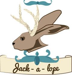 Jackalope banner vector