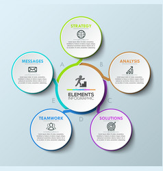 modern infographic design template circular vector image vector image