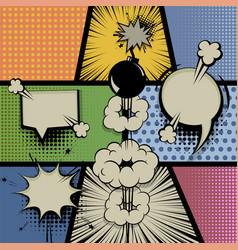 pop art vintage background comic balloon vector image