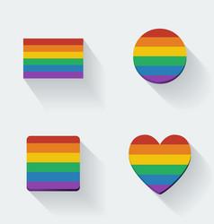 Rainbow flags vector