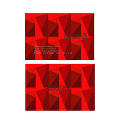 red modern and elegant business card vector image
