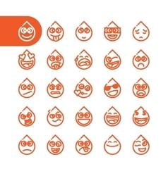 Set of emoji emoticons vector image