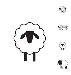 sheep or ram icon logo template pictogram vector image
