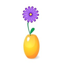 Single flower in vase vector image
