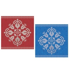 Snowflake knitted pattern vector image