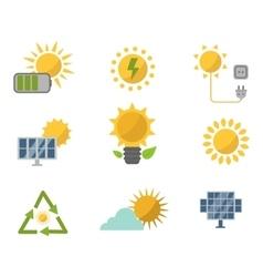 Sun solar energy set vector image