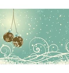 vintage retro christmas card vector image vector image