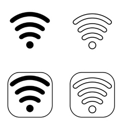 Wi-Fi Icon set black vector image