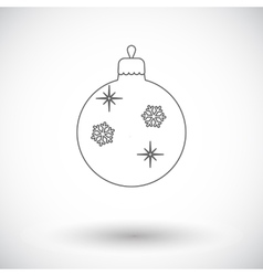 Christmas ball flat icon vector