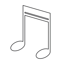 Note music audio sound outline vector