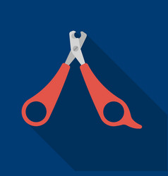 pet nail clippers icon in flate style isolated on vector image