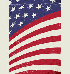 grunge united states of america wavy flag vector image