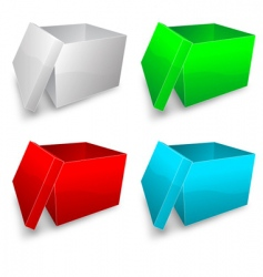 colored boxes vector image