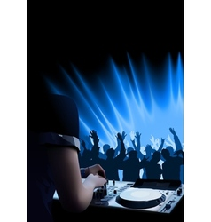 Dj dance party background vector