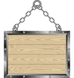 Wooden plaque vector