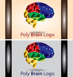 Poly brain logo vector