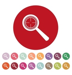 Magnifier glass search icons  set vector