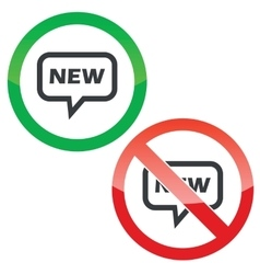 New message permission signs vector