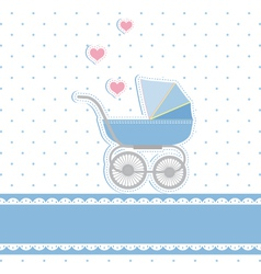 New baby boy shower vector