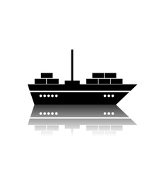 Ship icon isolated on white background vector