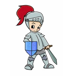 knight cartoon boy vector image