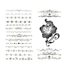 Doodles border vector image