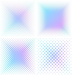 Abstract square halftone elements vector