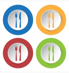 Set of four icons - cutlery vector