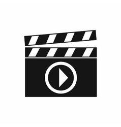 Clapperboard for movie shooting icon simple style vector