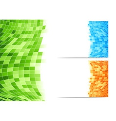 Abstract background with green tiles vector image vector image