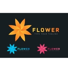 Abstract flower icon logo vector
