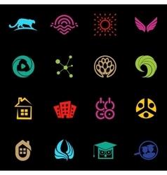 Abstract logos set modern logo collection vector