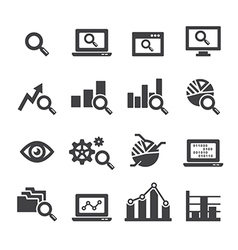 analysis icon set vector image