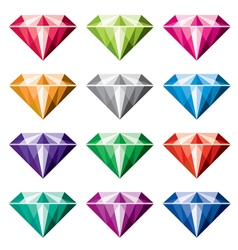 colorful diamonds vector image vector image