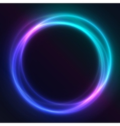 Colorful glowing rings eps10 abstract vector